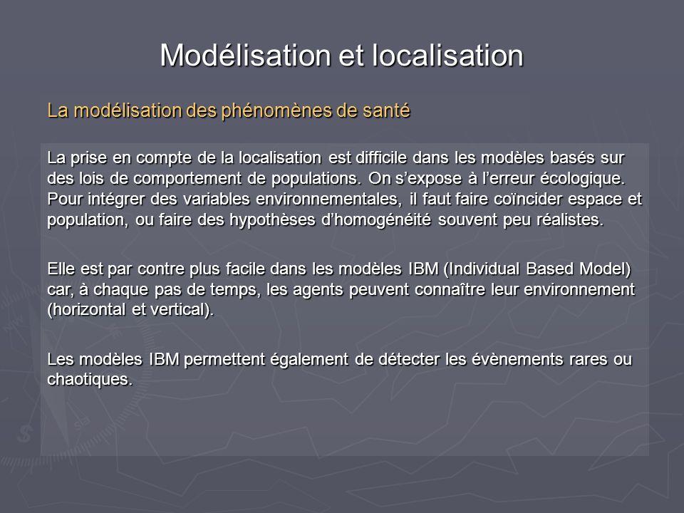 La prise en compte de la localisation est difficile dans les modèles basés sur des lois de comportement de populations. On sexpose à lerreur écologiqu