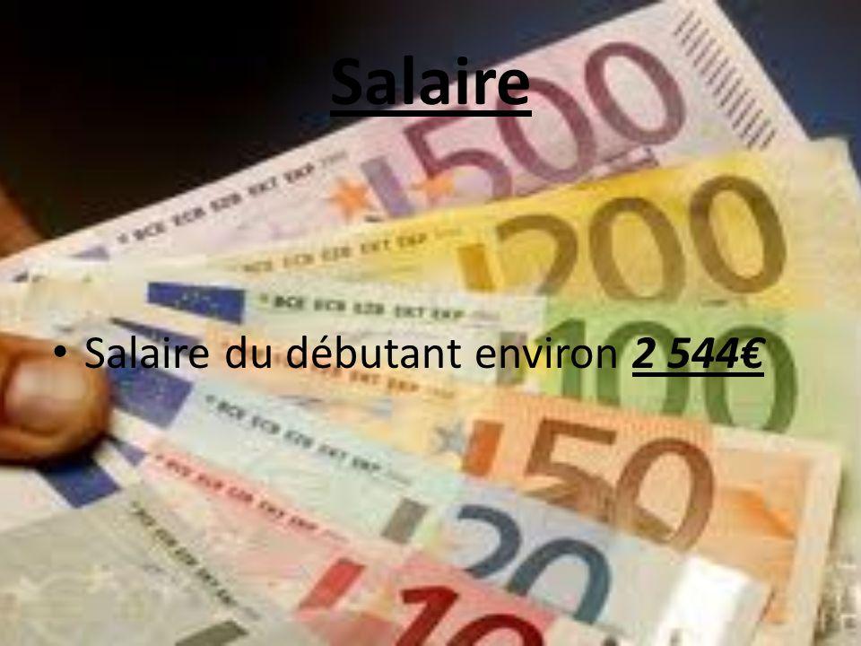 Salaire Salaire du débutant environ 2 544