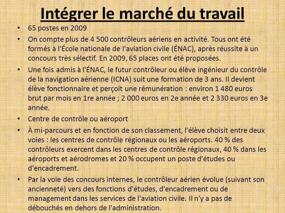 Accès au métier En France, les contrôleurs aériens ont la particularité d être des fonctionnaires.