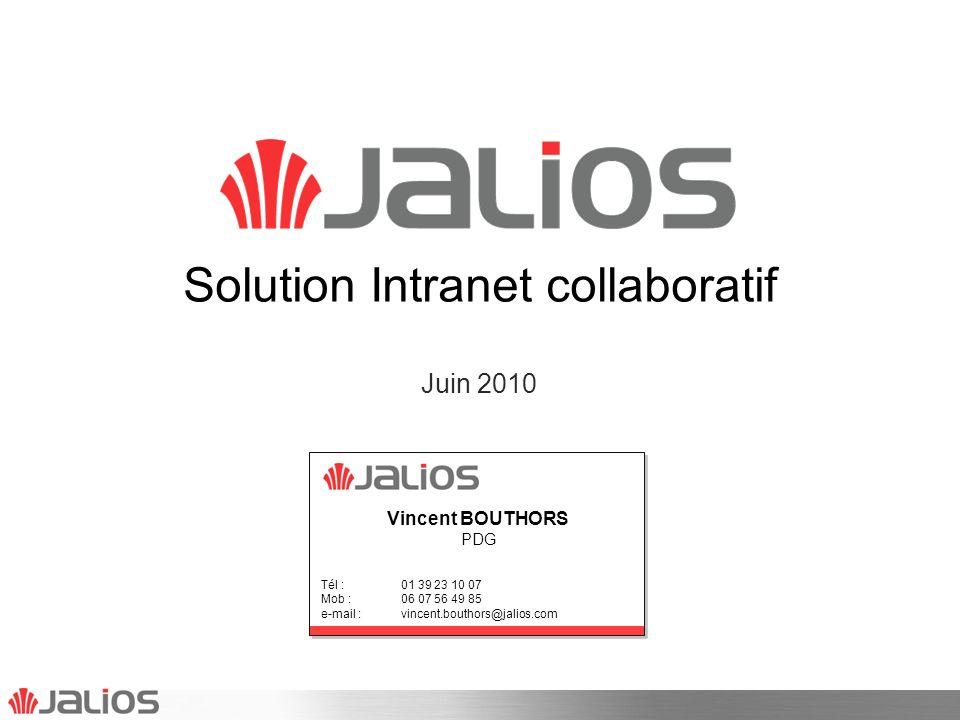 Agenda Jalios en bref Synthèse de loffre Jalios JCMS solution intranet documentaire Jalios Social Collaborative Suite Architecture technique Roadmap produit 2JALIOS - Copyright mai 2010