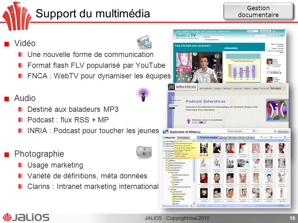 Support du multimédia Vidéo Une nouvelle forme de communication Format flash FLV popularisé par YouTube FNCA : WebTV pour dynamiser les équipes Audio