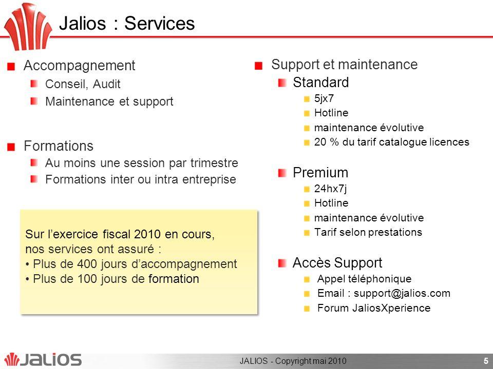 6 Jalios : plus de 100 grandes références JALIOS - Copyright mai 2010