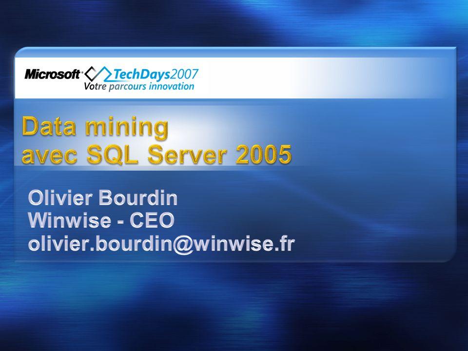 Data Mining Management System (DMMS) Mining Model Définir un modèle CREATE MINING MODEL ….