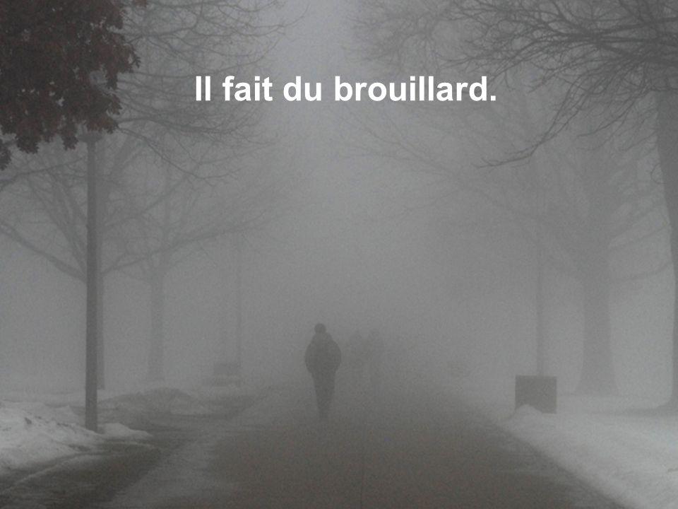 Il fait du brouillard.
