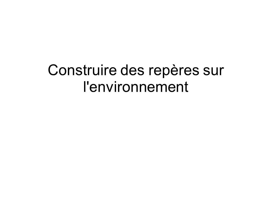 Construire des repères sur l'environnement