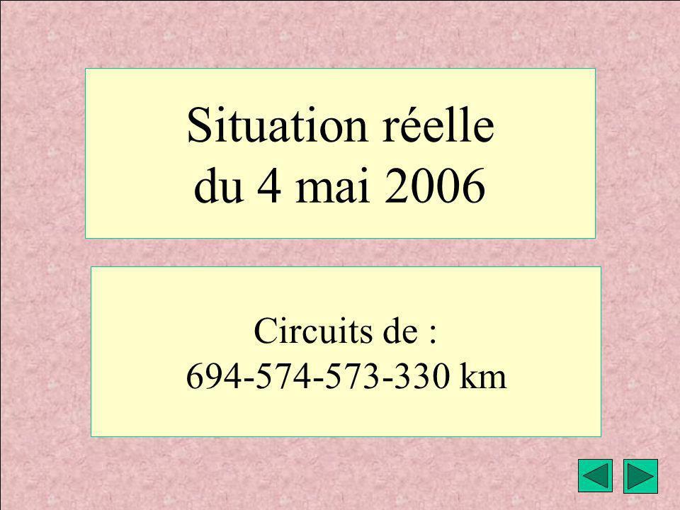 météo VAV Montricher Fièque JP1 Situation réelle du 4 mai 2006 Circuits de : 694-574-573-330 km