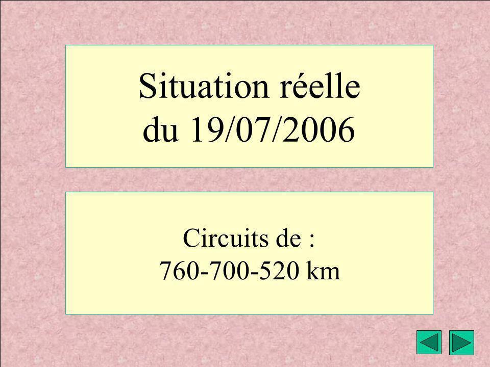 météo VAV Montricher Fièque JP6 Situation réelle du 19/07/2006 Circuits de : 760-700-520 km