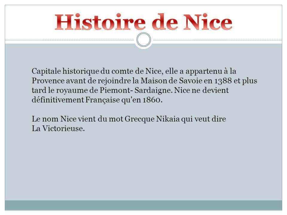 Capitale historique du comte de Nice, elle a appartenu à la Provence avant de rejoindre la Maison de Savoie en 1388 et plus tard le royaume de Piemont