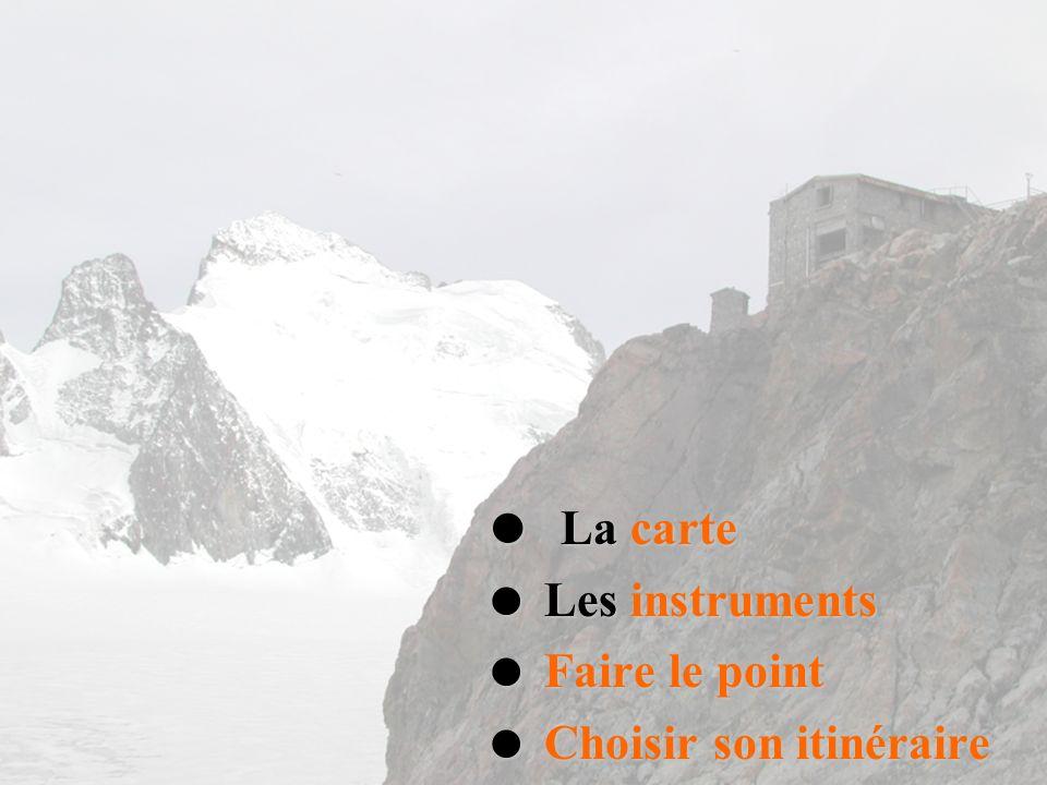 La carte La carte Les instruments Les instruments Faire le point Faire le point Choisir son itinéraire Choisir son itinéraire