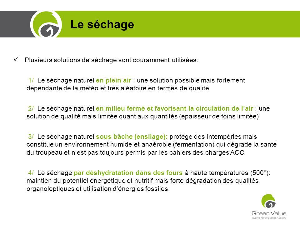 Le séchage Formation Commerciale CGP Plusieurs solutions de séchage sont couramment utilisées: 1/ Le séchage naturel en plein air : une solution possi
