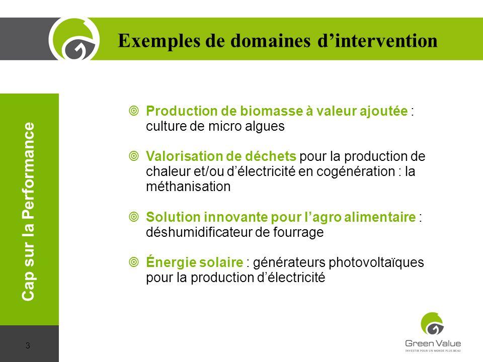 Production de biomasse à valeur ajoutée : culture de micro algues Valorisation de déchets pour la production de chaleur et/ou délectricité en cogénéra