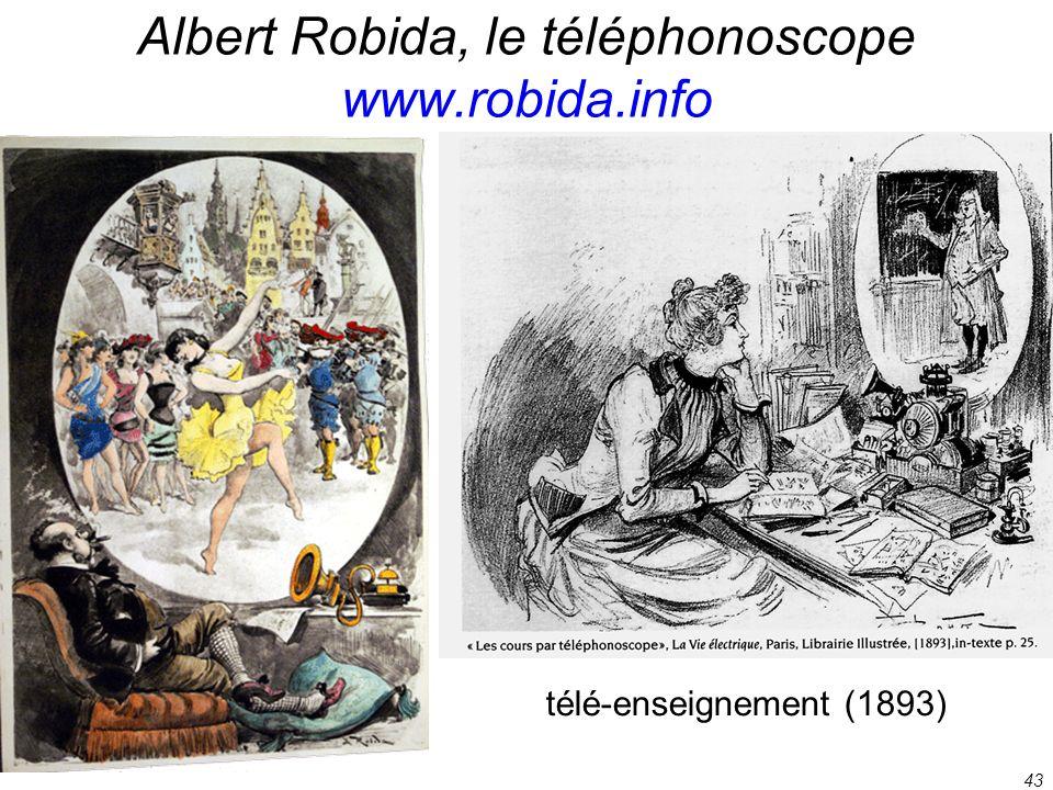 43 Albert Robida, le téléphonoscope www.robida.info télé-enseignement (1893)