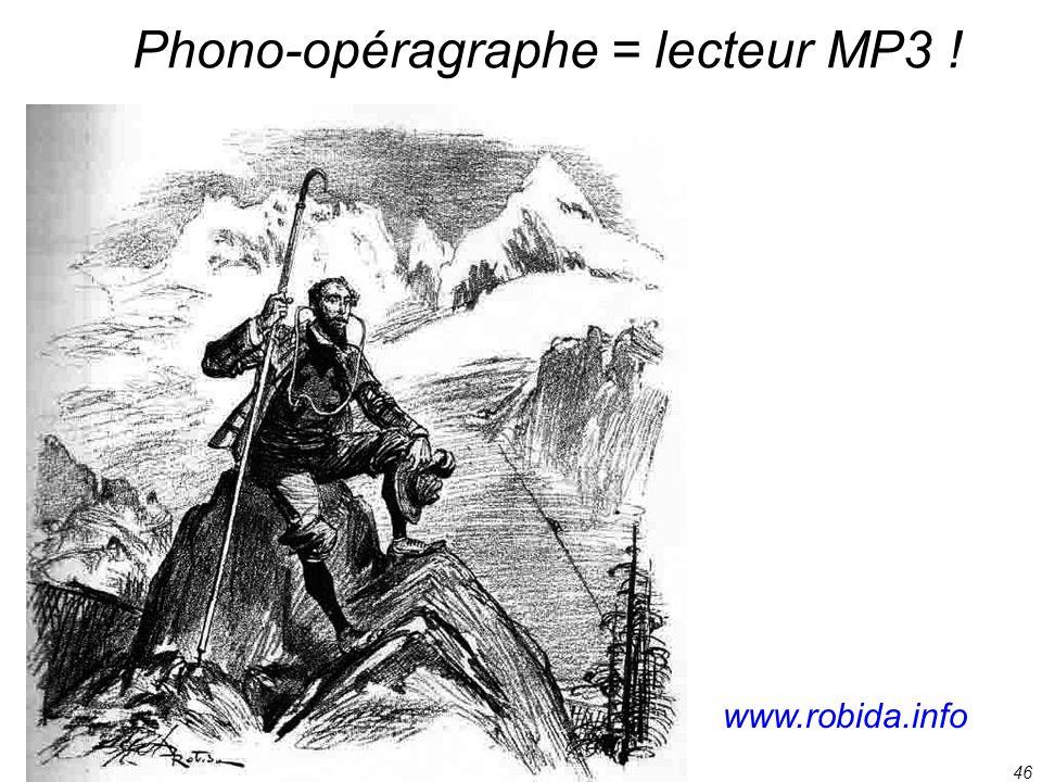 46 Phono-opéragraphe = lecteur MP3 ! www.robida.info