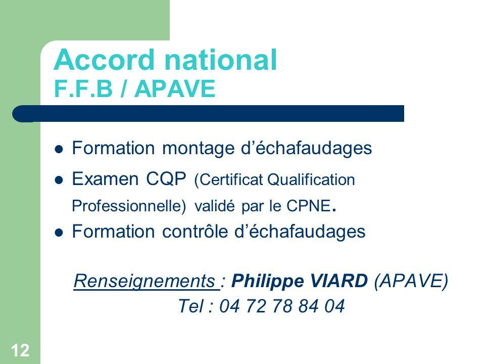 12 Formation montage déchafaudages Examen CQP (Certificat Qualification Professionnelle) validé par le CPNE. Formation contrôle déchafaudages Renseign