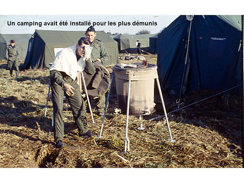 Un camping avait été installé pour les plus démunis