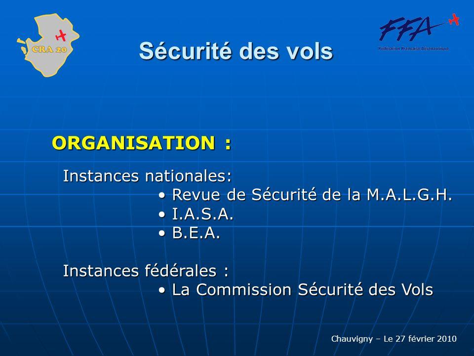 Chauvigny – Le 27 février 2010 Sécurité des vols Lassistance: Apporter une aide aux dirigeants en cas daccident Apporter une aide aux dirigeants en cas daccident