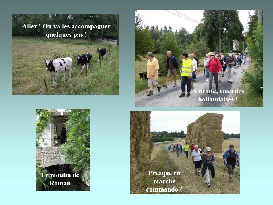 Le moulin de Roman Allez .On va les accompagner quelques pas .