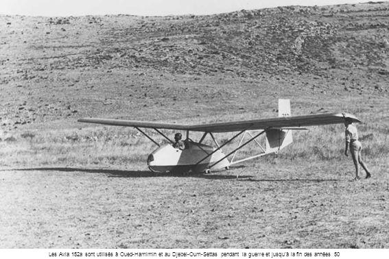 Les Avia 152a sont utilisés à Oued-Hamimin et au Djebel-Oum-Settas pendant la guerre et jusquà la fin des années 50