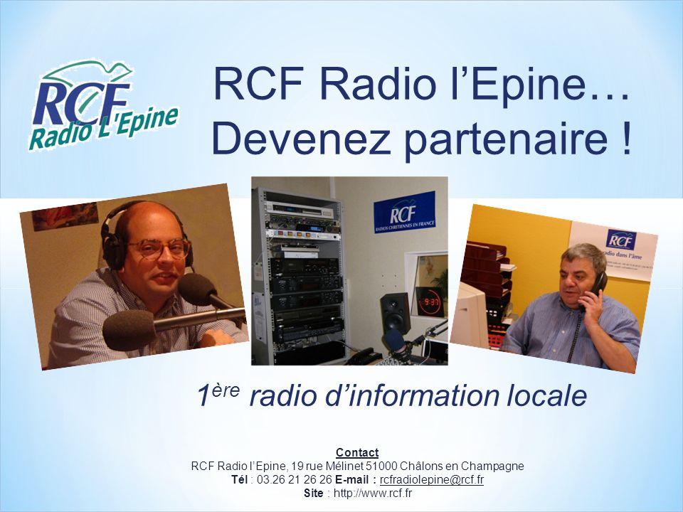 RCF Radio lEpine… Devenez partenaire .