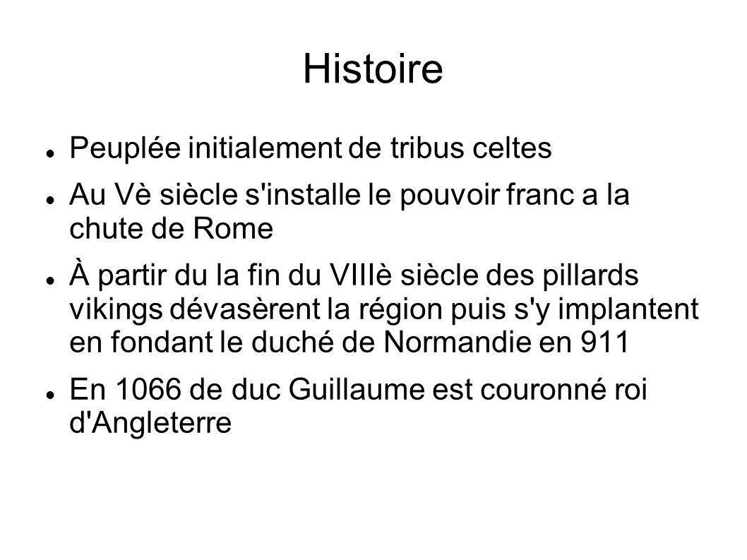 Histoire Peuplée initialement de tribus celtes Au Vè siècle s'installe le pouvoir franc a la chute de Rome À partir du la fin du VIIIè siècle des pill