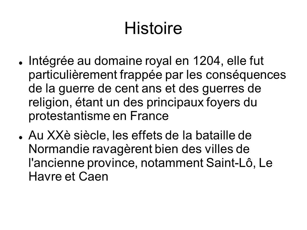 Histoire Intégrée au domaine royal en 1204, elle fut particulièrement frappée par les conséquences de la guerre de cent ans et des guerres de religion