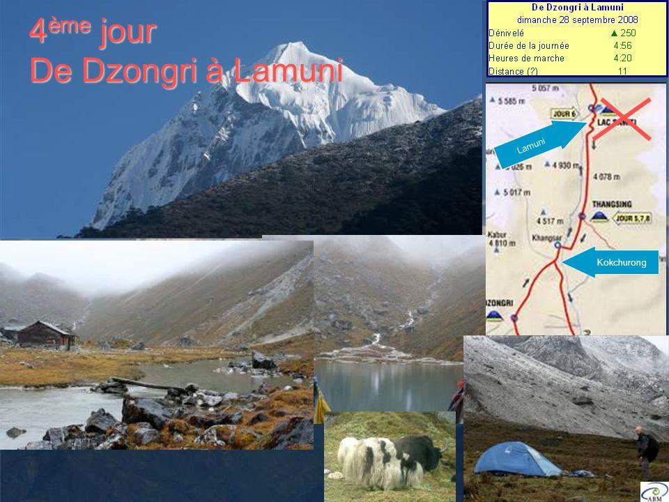 4 ème jour De Dzongri à Lamuni Kokchurong Lamuni