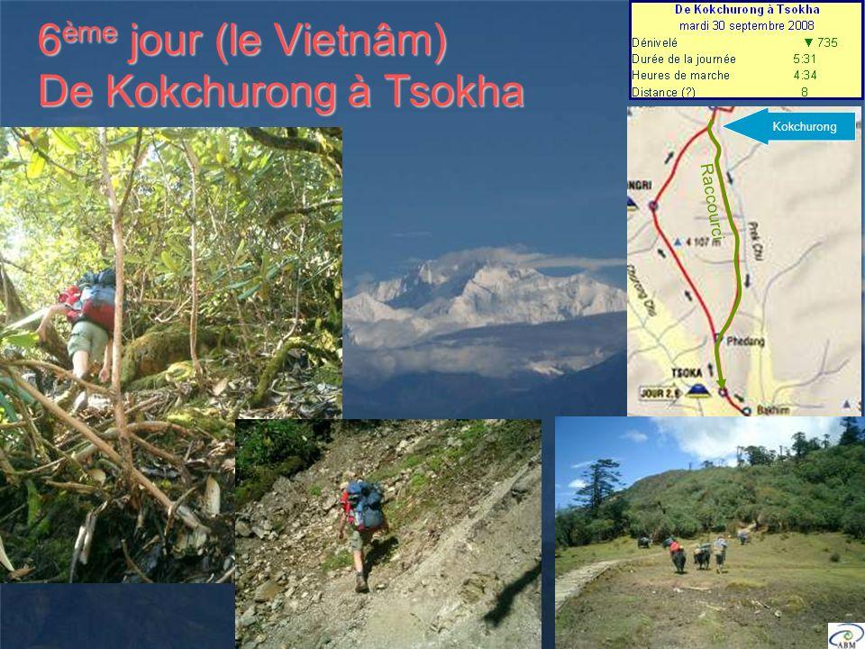 6 ème jour (le Vietnâm) De Kokchurong à Tsokha Kokchurong Raccourci