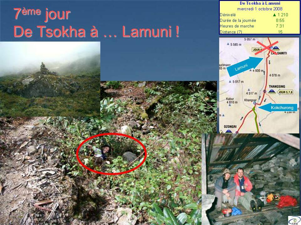 7 ème jour De Tsokha à … Lamuni ! Kokchurong Lamuni