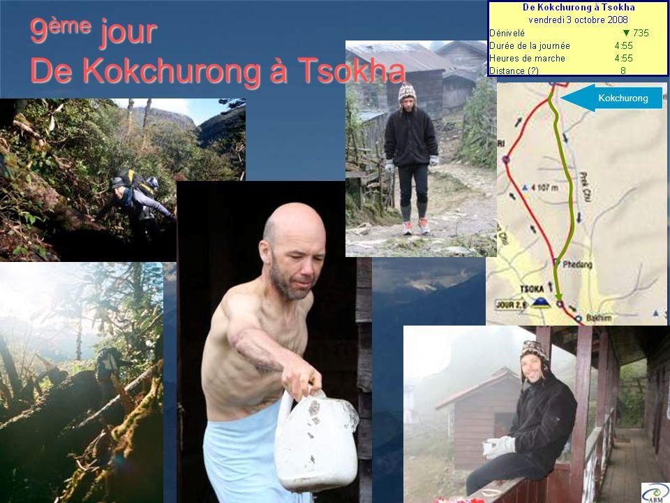 Kokchurong 9 ème jour De Kokchurong à Tsokha