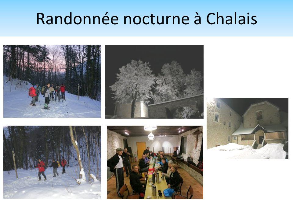Randonnée nocturne à Chalais