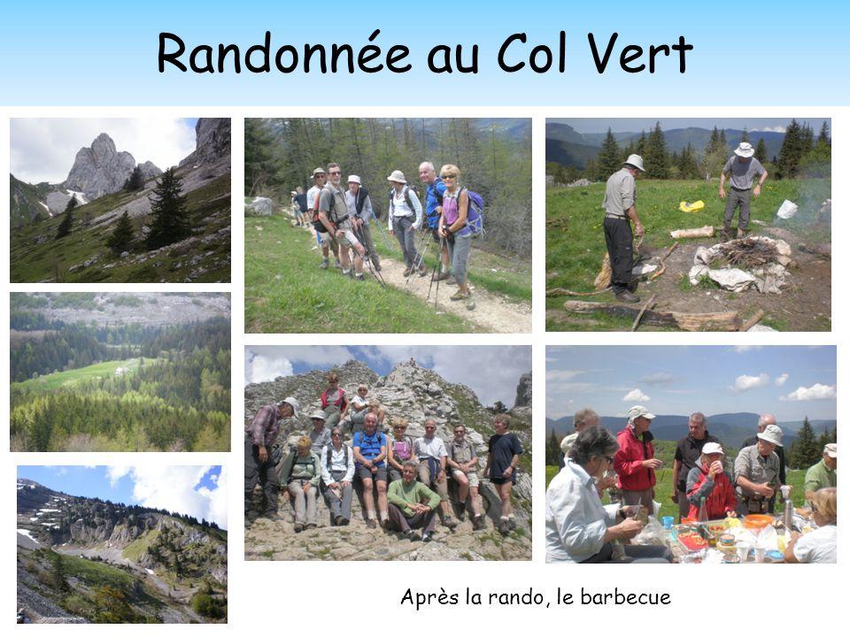 Randonnée au Col Vert Après la rando, le barbecue