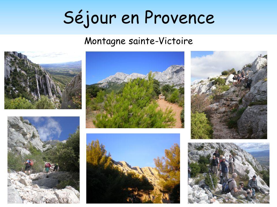 Séjour en Provence Montagne sainte-Victoire