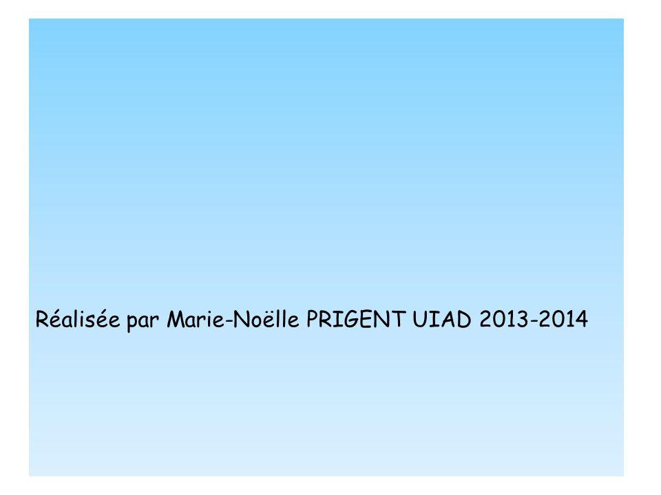 Réalisée par Marie-Noëlle PRIGENT UIAD 2013-2014