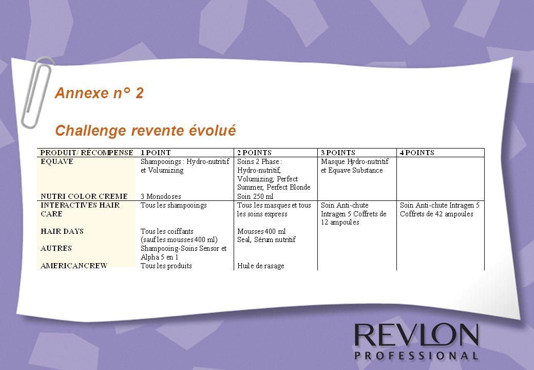 Annexe n° 2 Challenge revente évolué