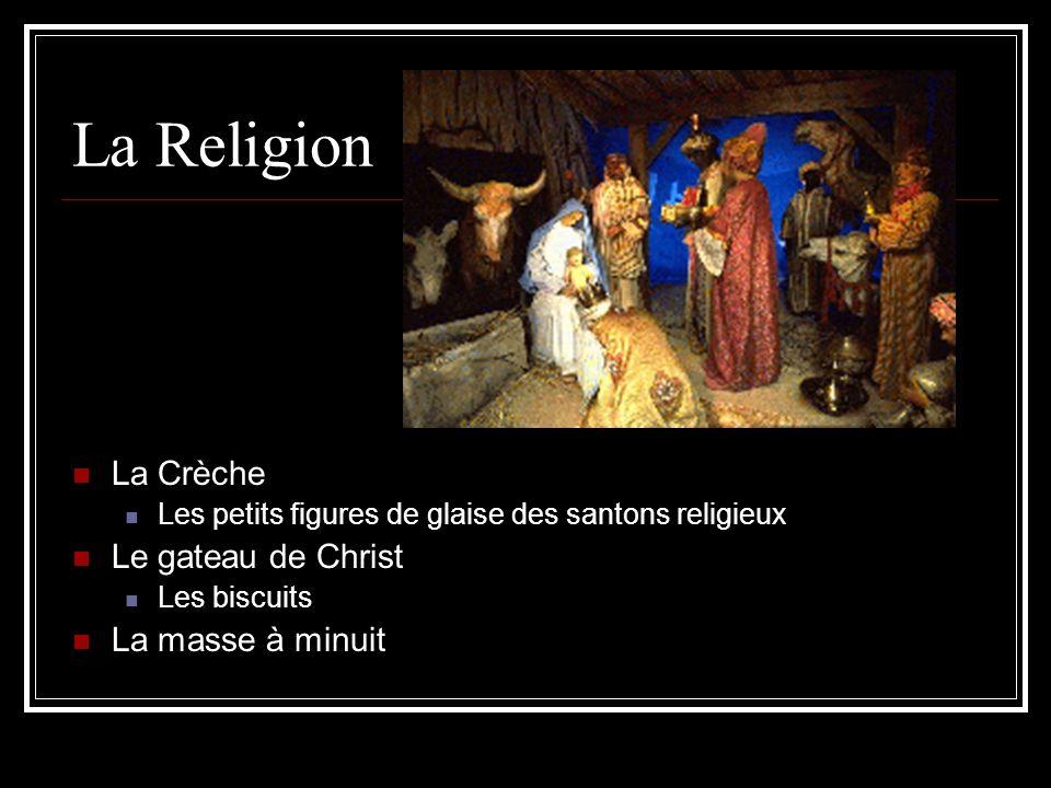 La Religion La Crèche Les petits figures de glaise des santons religieux Le gateau de Christ Les biscuits La masse à minuit