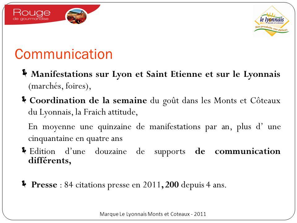Communication Manifestations sur Lyon et Saint Etienne et sur le Lyonnais (marchés, foires), Coordination de la semaine du goût dans les Monts et Côte