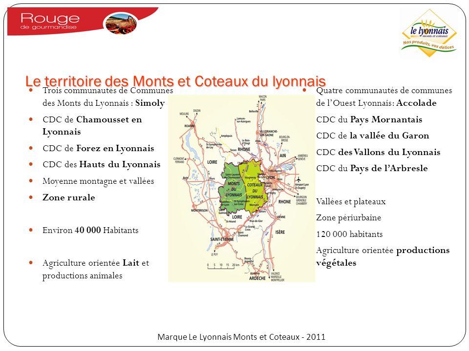 Le territoire des Monts et Coteaux du lyonnais Trois communautés de Communes des Monts du Lyonnais : Simoly CDC de Chamousset en Lyonnais CDC de Forez