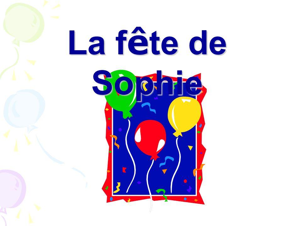 Salut Sophie! Bon anniversaire! Voici un cadeau pour toi. Oh, merci! Quest-ce que cest?