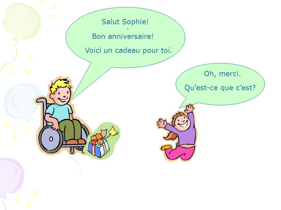 Salut. Je suis le père de Sophie. Et toi Qui………. Moi Je Florian. ……es-tu suis
