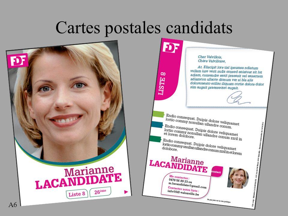 Cartes postales candidats A6