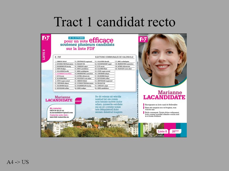 Tract 1 candidat recto A4 -> US