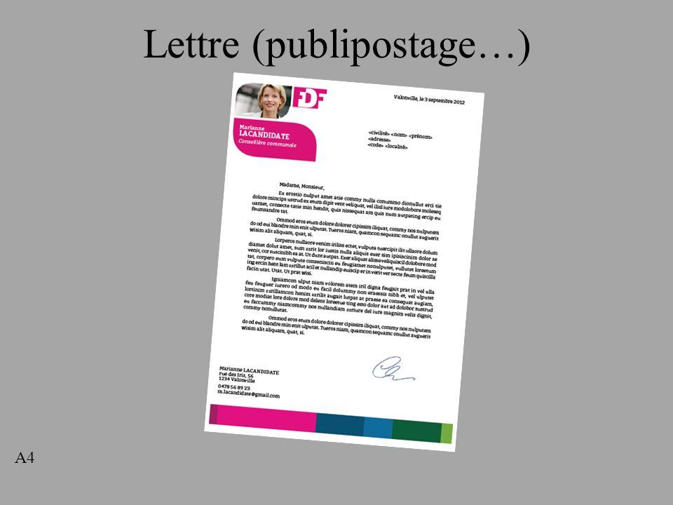 Lettre (publipostage…) A4