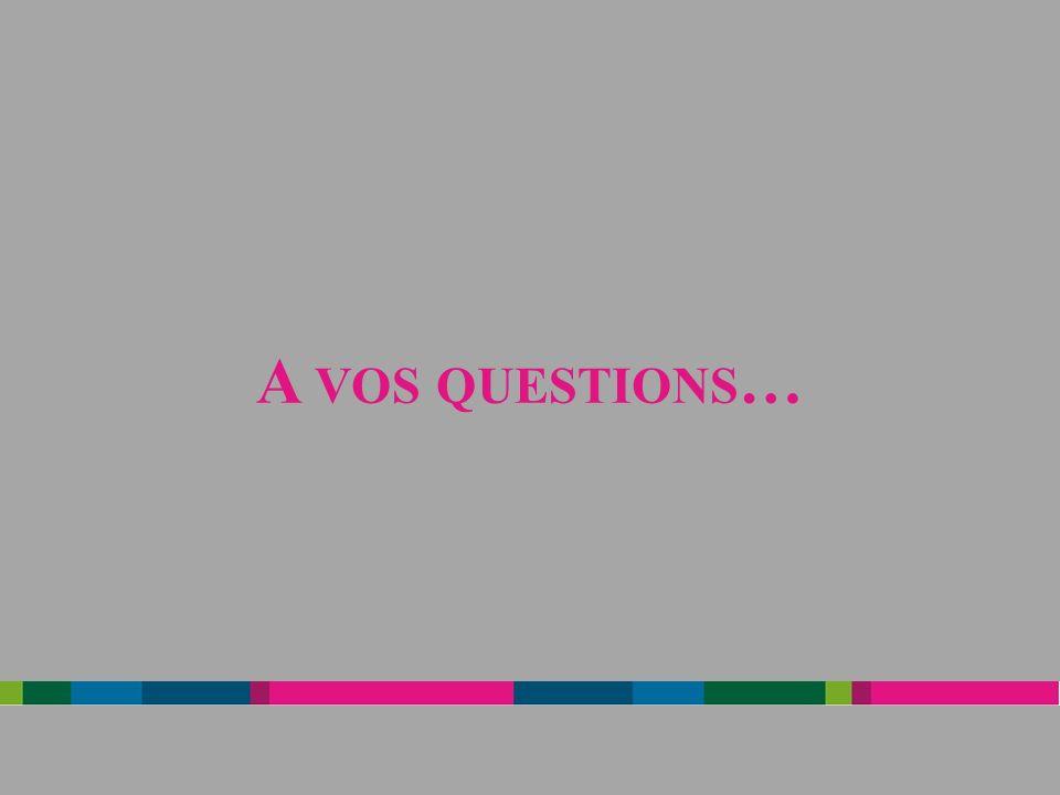 A VOS QUESTIONS …