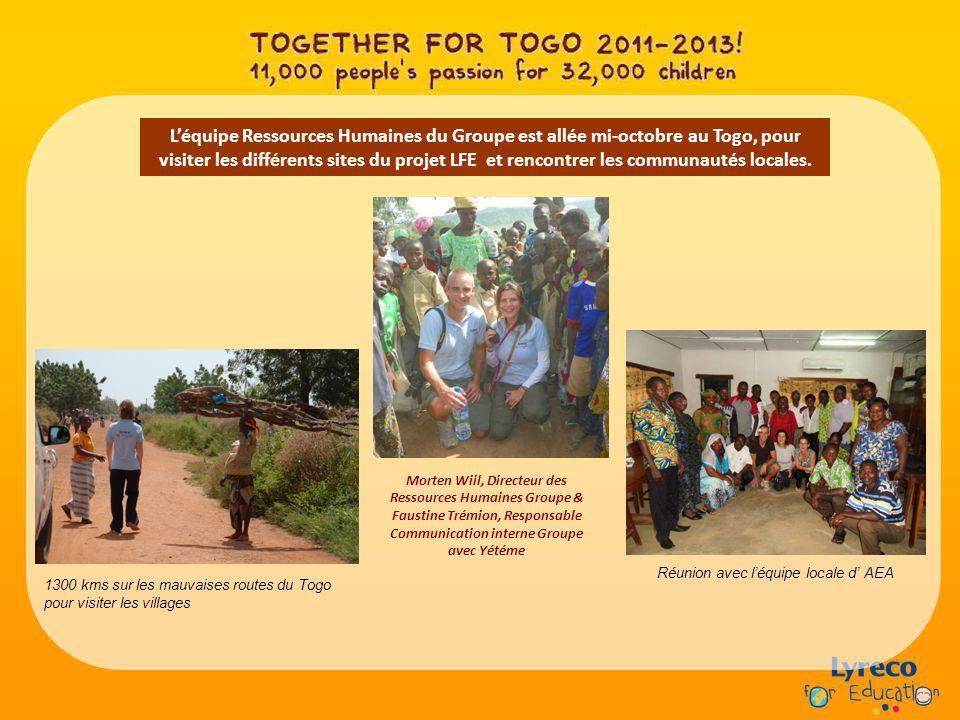 Léquipe Ressources Humaines du Groupe est allée mi-octobre au Togo, pour visiter les différents sites du projet LFE et rencontrer les communautés loca