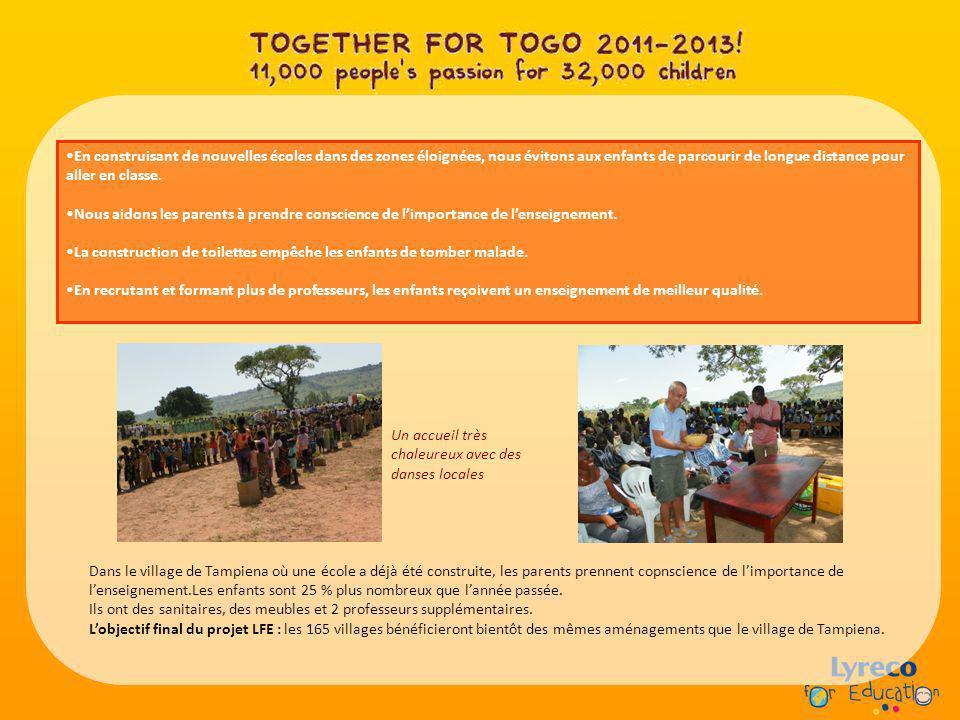 En construisant de nouvelles écoles dans des zones éloignées, nous évitons aux enfants de parcourir de longue distance pour aller en classe. Nous aido
