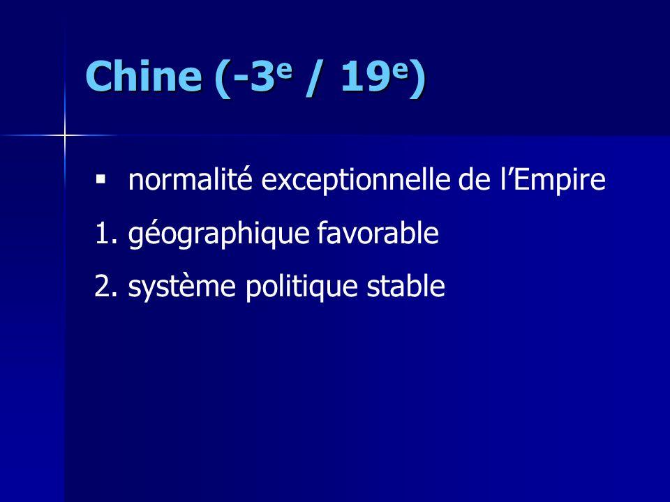 Chine (-3 e / 19 e ) normalité exceptionnelle de lEmpire 1.