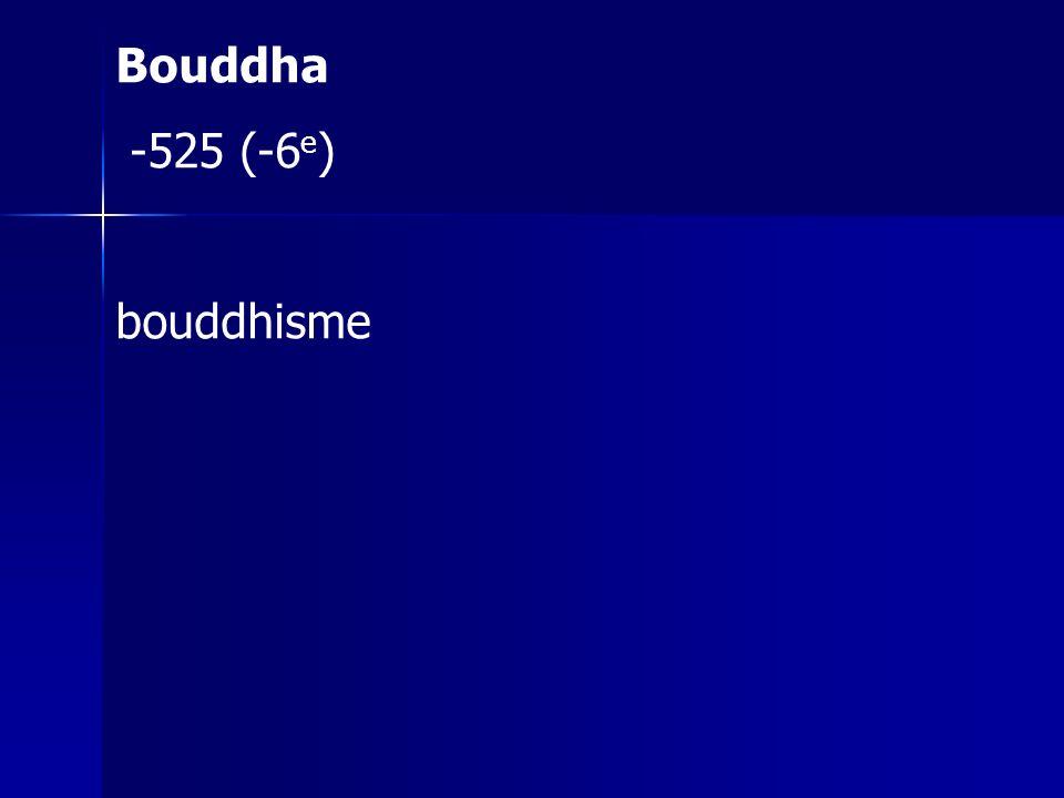 Bouddha -525 (-6 e ) bouddhisme
