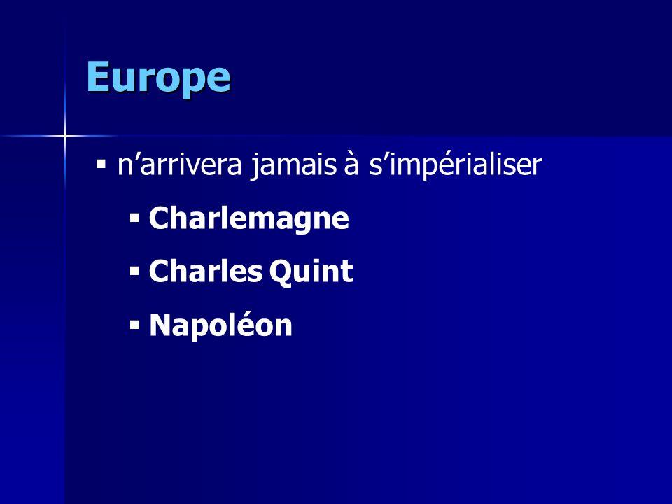 Europe narrivera jamais à simpérialiser Charlemagne Charles Quint Napoléon