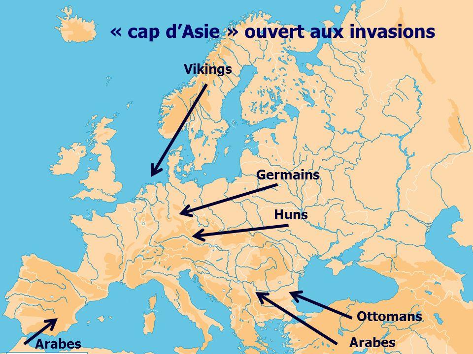 Vikings Germains Huns Ottomans Arabes « cap dAsie » ouvert aux invasions