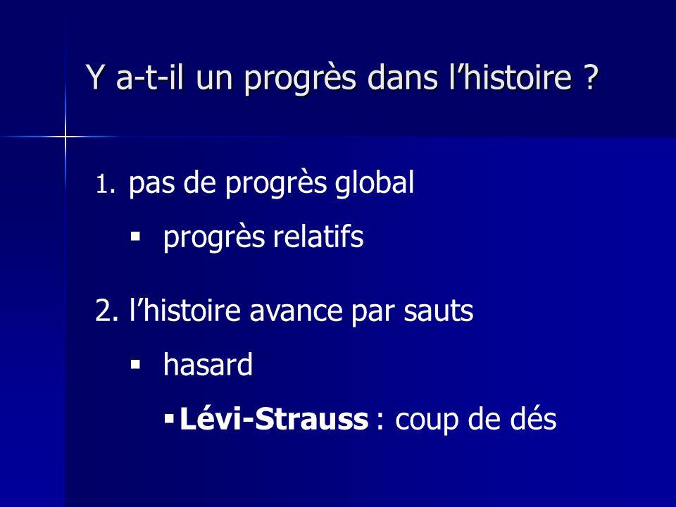 Y a-t-il un progrès dans lhistoire .1. pas de progrès global progrès relatifs 2.